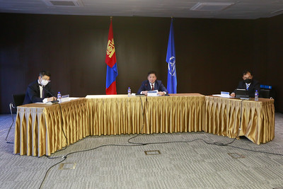 2021 оны есдүгээр сарын 16. Монголбанкны Мөнгөний бодлогын хороо хуралдлаа. Хурлын шийдвэрээ танилцуулж байна. ГЭРЭЛ ЗУРГИЙГ И.НОМИН/MPA