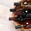 Basket of Wine Bottles