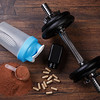 Dumbells and food supplements