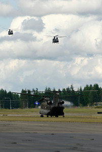 Some Chinook Helicopters which Happened to be at the Airport