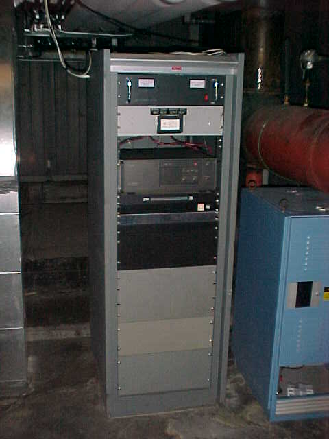 Monroe County Repeater Association, repeater equipment rack.