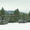 Blackhawks in the snow at Idaho City Airport.  Part of the inspiration for this build!