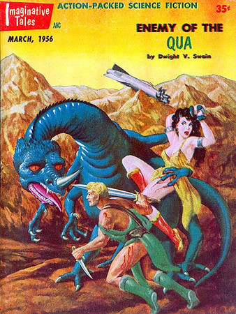 IMAGINATIVE TALES<br /> 'Enemy of Qua'                                            <br /> Mar., 1956<br /> 130 pgs.<br /> Pulp
