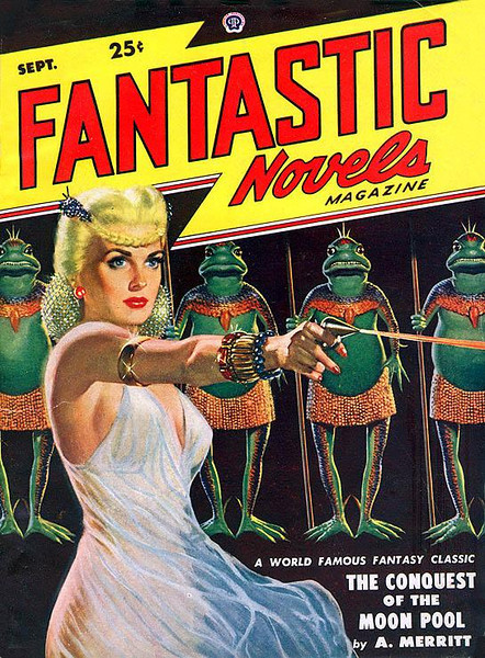 FANTASTIC NOVELS<br /> 'The Conquest of the Moon Pool' <br /> Sept., 1948 <br /> Vol. 2,  # 3<br /> 130 pgs.<br /> Pulp