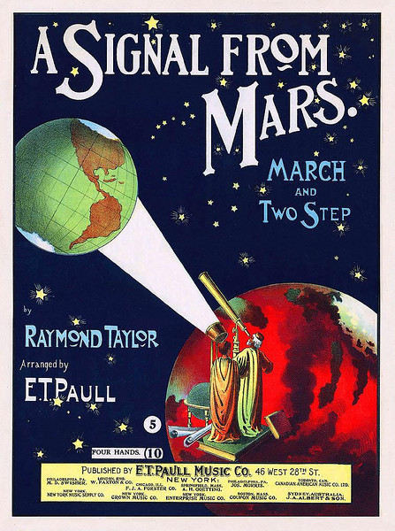 'A SIGNAL FROM MARS', 1901 Sheet Music
