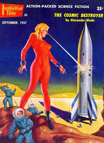 IMAGINATIVE TALES<br /> 'The Cosmic Destroyer' <br /> Sept., 1957<br /> 130 pgs.<br /> Pulp