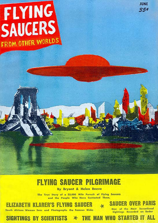 FLYING SAUCERS <br /> (FROM OTHER WORLDS)<br /> 'Flying Saucer Pilgrimage'<br /> Jun., 1957 (Issue # 1) <br /> 98 pgs.<br /> Pulp