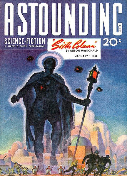 ASTOUNDING SCIENCE-FICTION<br /> 'Sixth Column' <br /> Jan., 1941<br /> Vol. XXVI # 5<br /> 162 pgs.<br /> Pulp