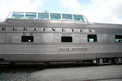 The Burlington Route Vista Dome car that we rode in