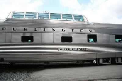 The Burlington Route Vista Dome car that we rode in