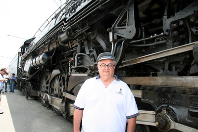 Bill standing by the side of the 3751