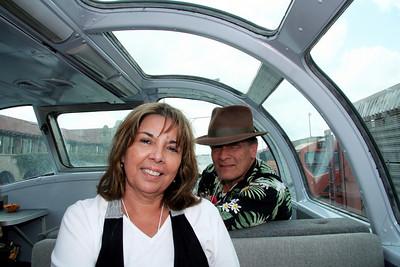 Arleene and Greg in the Vista Dome car