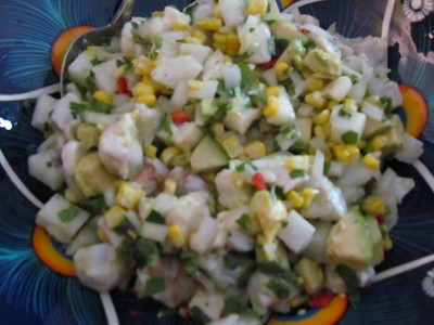 2011 April making ceviche at home