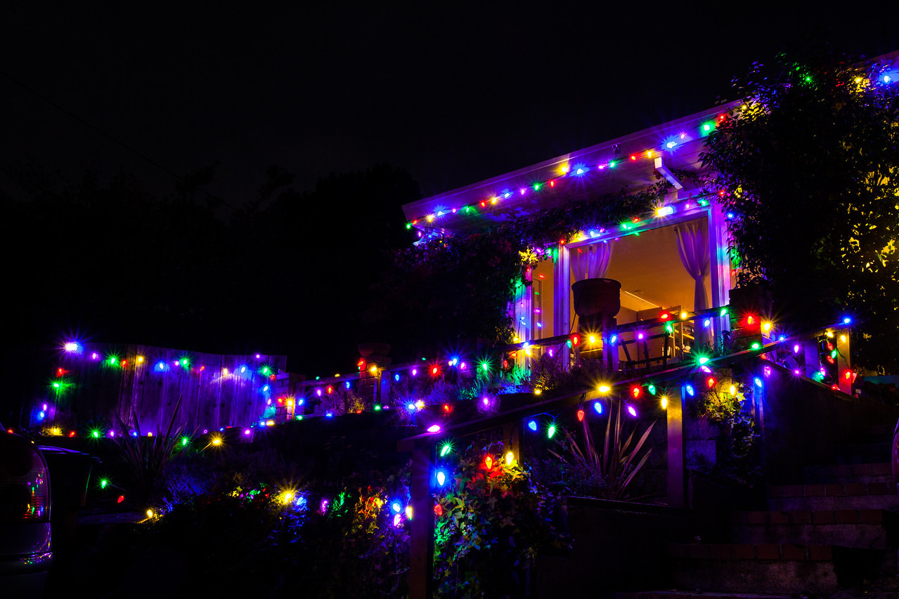 Day 331/1061 -  The house is all lit up and and ready for the holidays.