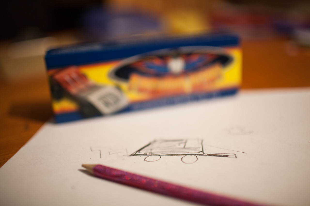 Day 353/1083 - First draft of the pinewood derby car.