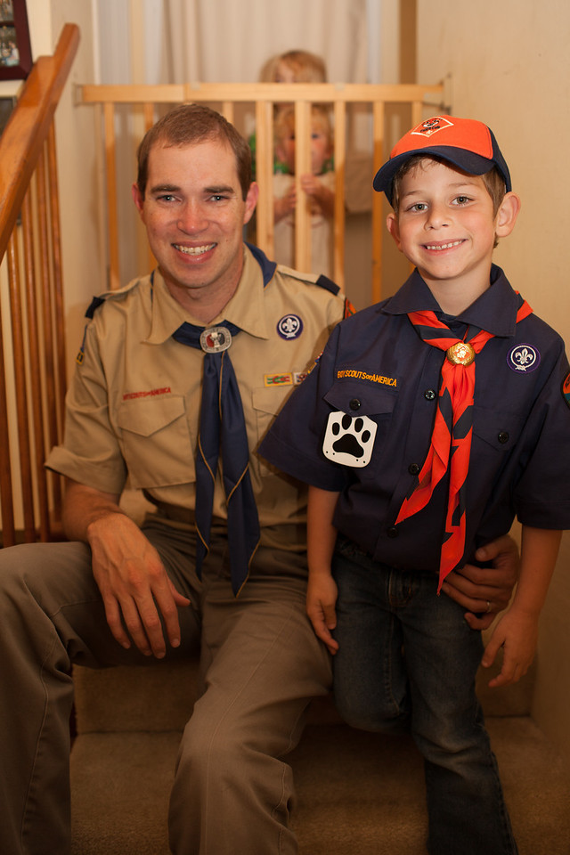 Day 319/1049 - Corey and I had our first night of Cub Scouts.  It looks like he had a good time.