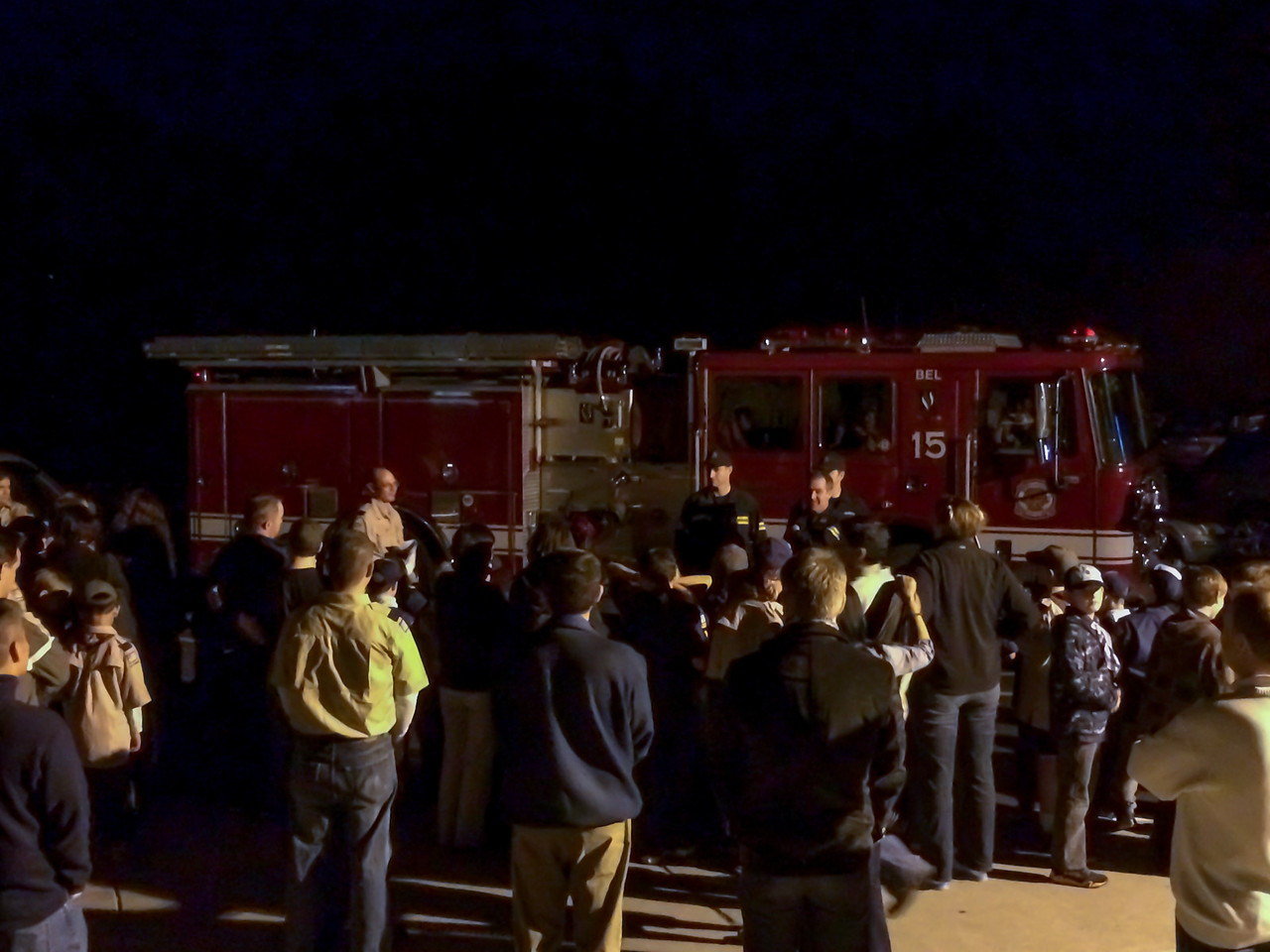Day 351/1447 - Fire fighters came to the Pack meeting tonight gather our toy drive collection. It's great to see so much going back to our community.