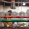 Ryan Henderson helps Pamela Melser with her welding project during a sculpture welding class at Tyler Junior College's west campus in Tyler, Texas, on Thursday, June 22, 2017. The class introduces students to the basics of welding and allows them to work on their own creative projects. (Chelsea Purgahn/Tyler Morning Telegraph)