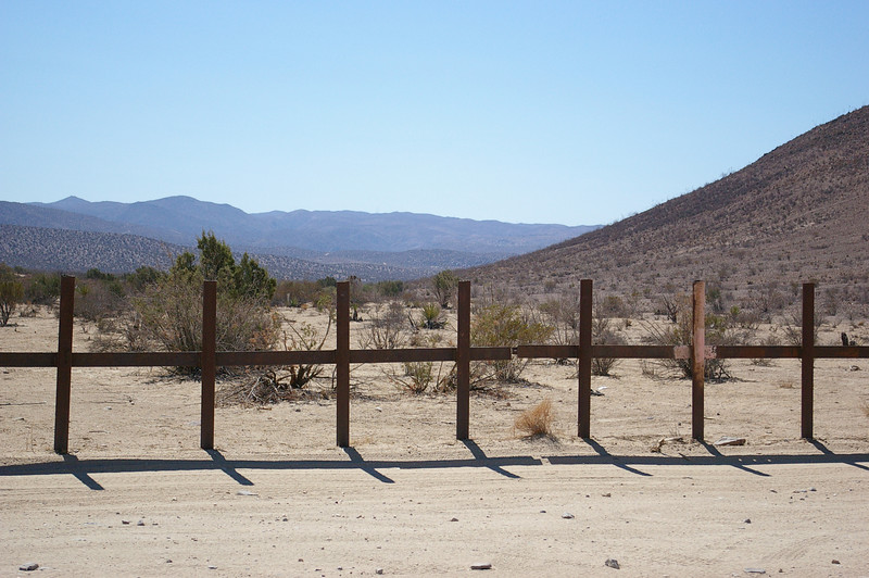 US / Mexico Border Fence in Jacumba, CA