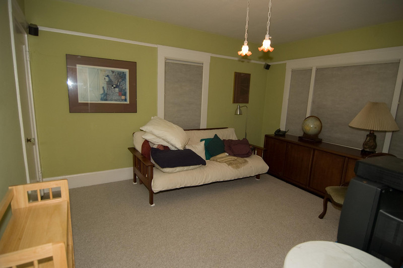 Front room - has closet, could be BR.  Painted linen white, carpet replaced (blue) since photo was taken.