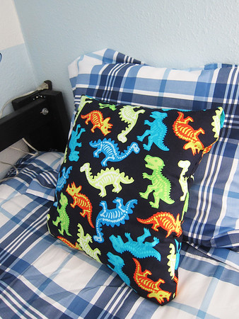 Fabric from Joanne's, they have a huge selection, made another pillow for Travis, $3.
