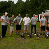 Group shot for Tim. He's an awesome guy, with some awesome blades. We all needed a set, or two.<br /> Photo by James Plastine