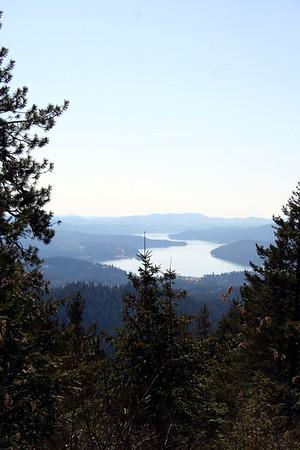 View of Lake Coeur d' Alene.