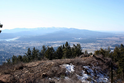 We then went up to the radio/cell towers at the top of Canfield Mt. So for you who only have seen the towers up on Canfield from town this is what it looks like up there looking down at the city.