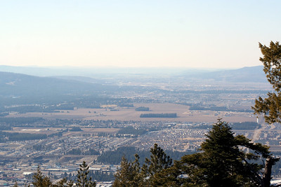 View of Coeur d' Alene & Post Falls from the towers on top of Canfield Mt. You can also see all the way to the Spokane Valley.