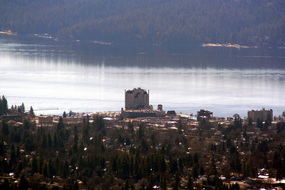 The Coeur d' Alene Resort view from the towers on top of Canfield Mt.
