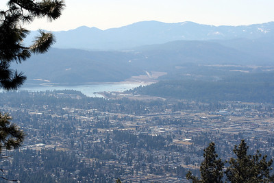 View of Coeur d' Alene. You can see the lake and looking towards Cougar Gultch.