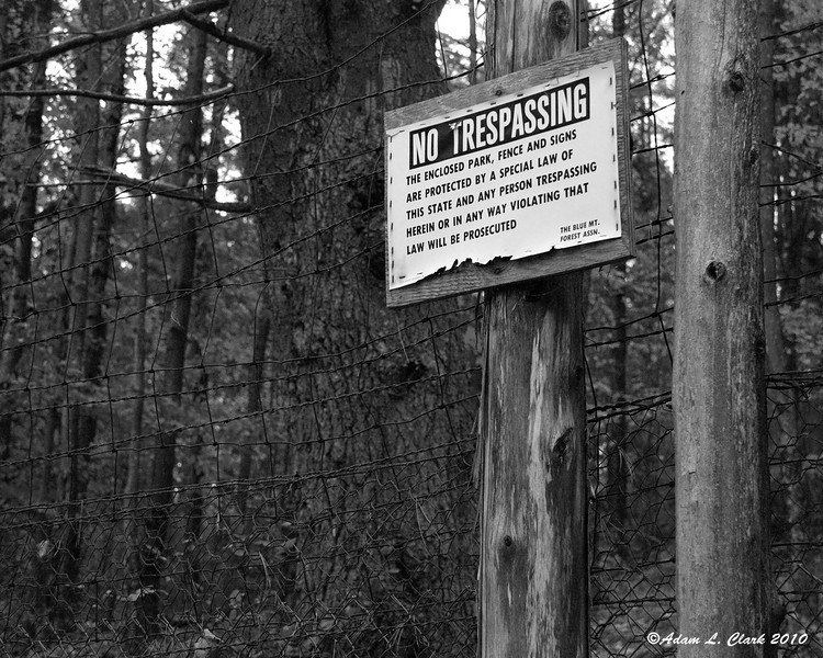 One of many signs along the edge of Corbin Park