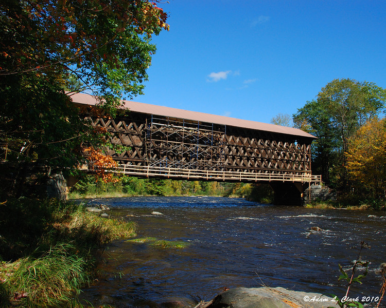 One of the covered bridges on the rail trail
