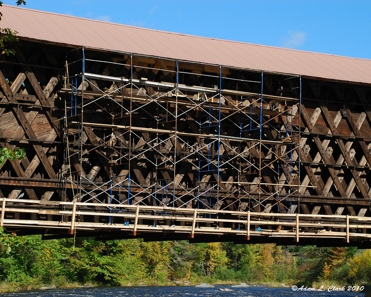 The covered bridges on the rail trail are getting some repairs