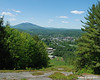View from Arrowhead.  Mt. Ascutney behind downtown Claremont