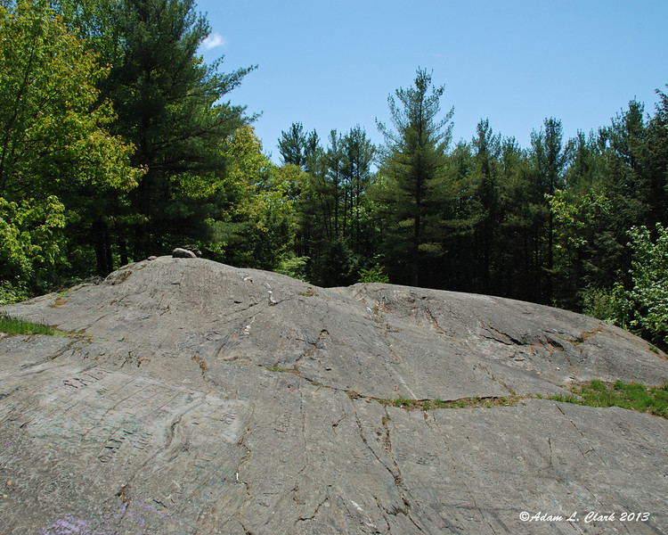 The open rock at the top of Arrowhead