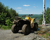 My ATV near the flagpole at the top of Arrowhead