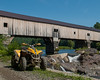 My ATV in front of the Bath Covered Bridge