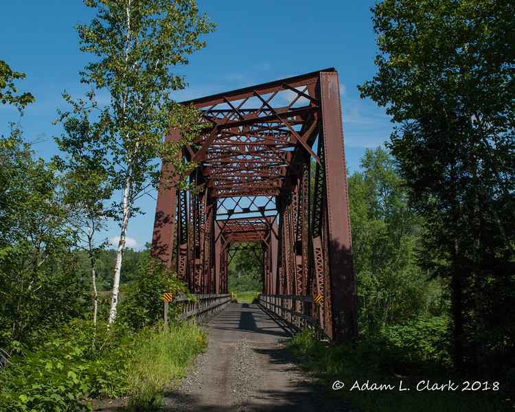 Another old railroad bridge along the trail