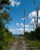 Another tall flag pole at the Cree Notch Picnic Area