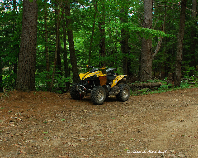 My ATV in the parking area at Fullam Pond