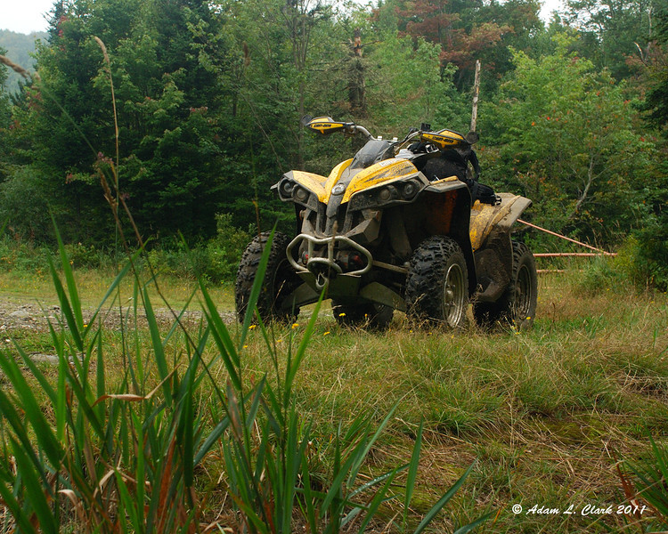 My ATV at Moose Pond