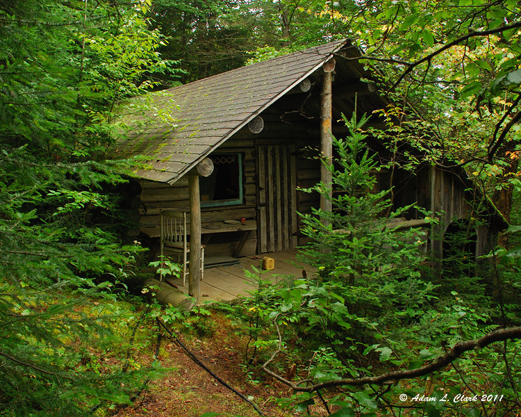 An old abandoned camp just off the trail