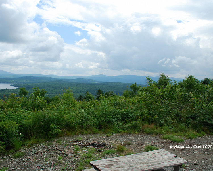 View from the picnic area on top of Shatney Mountain.