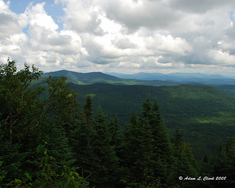 Looking North East from a lookout near the fire tower on top of Mt. Magalloway.