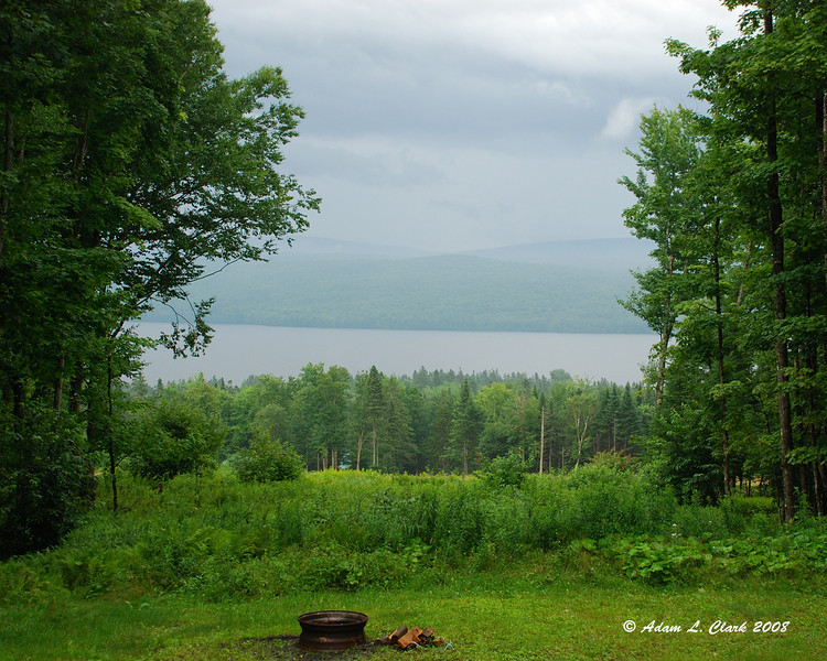 The view of Lake Francis from the cabin we stayed at.
