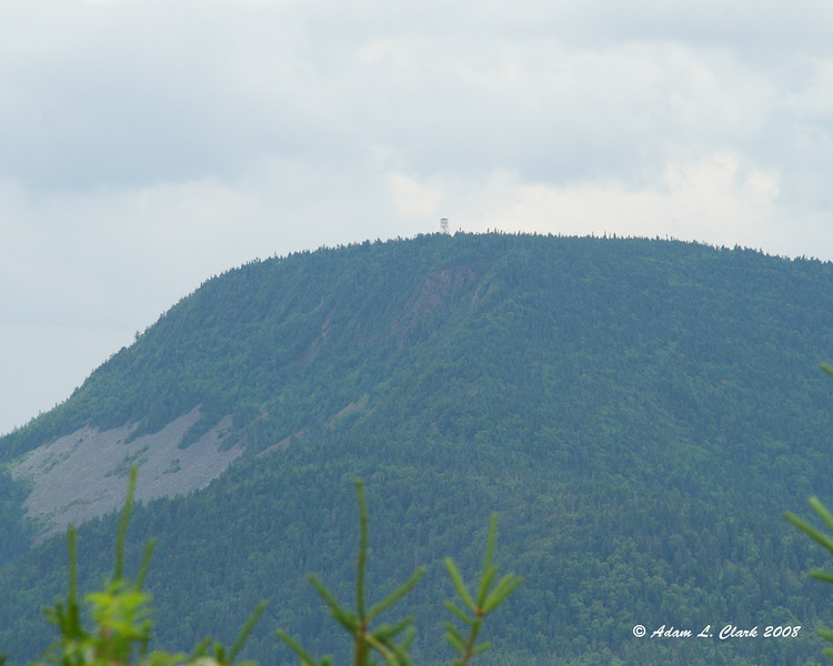 View of Mt. Magalloway and the fire tower from Diamond Ridge.