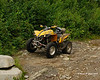 My ATV at the top of Cowen Hill.
