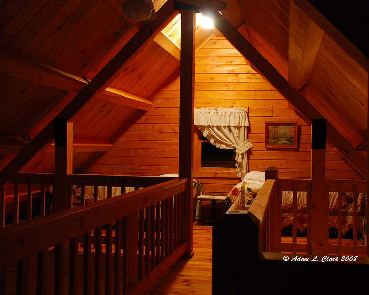 Part of the second floor of the cabin we were in.