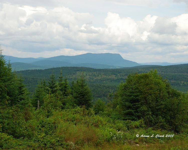 View of Rump Mountain while coming down Diamond Ridge.